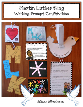 5 Martin Luther King Writing Prompt Craftivities