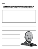 Martin Luther King Writing Prompt with Drawing Box