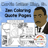 Martin Luther King Activities - Zen Coloring Quote Pages