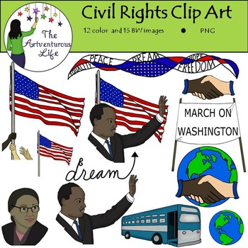 Martin Luther King Jr. and Civil Rights Clip Art