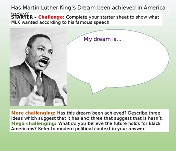 Martin Luther King and Equality Today