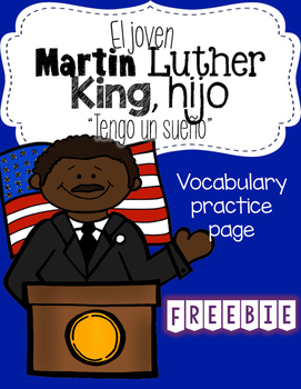 Martin Luther King, hijo Vocabulary Page [Spanish]