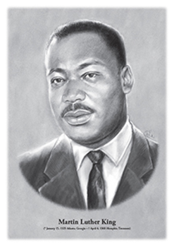 Martin Luther King - original illustration