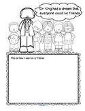 Martin Luther King Jr Activity Printable for Preschool and Kindergarten FREE