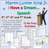 Martin Luther King's: I Have a Dream Speech and Activities