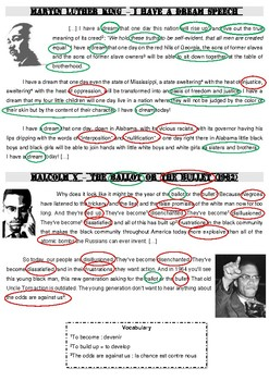 Martin Luther King's vs Malcolm X' speeches