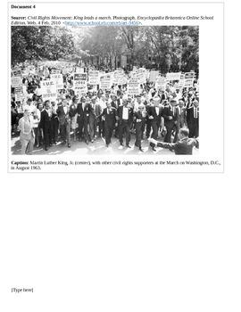 Martin Luther King/Gandhi/Mandela Synthesis Essay (FSA prep)