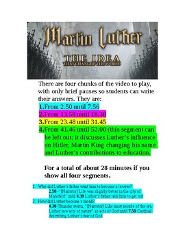 Martin Luther: The Idea that Changed the World Viewing Guide