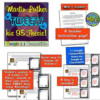 Martin Luther Tweets His 95 Theses!  The Protestant Reformation & Modern Day!