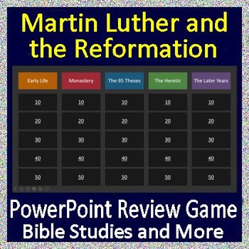 Martin Luther and the Reformation Review Game