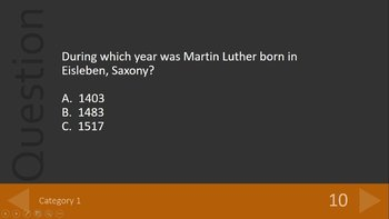 Bible Study Distance Learning Martin Luther/Reformation Review Game   Google