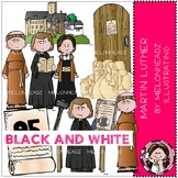 Martin Luther clip art - BLACK AND WHITE - Melonheadz Clipart