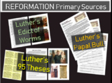 Martin Luther's 95 Theses, Edict of Worms, Papal Bull 3 Primary source documents