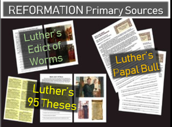 Martin Luther's 95 Theses, Edict of Worms, Papal Bull 3 Pr