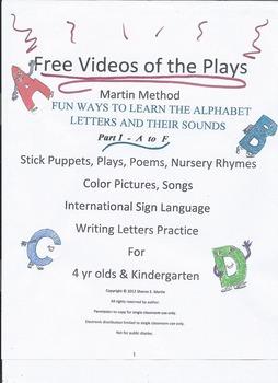 Reading, Martin Method PreK Play 2 Video- Fun Alphabet Learning A-F