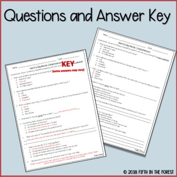 Martin's Big Words Comprehension Questions FREEBIE