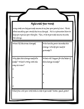 Martin's Big Words Discussion and Activity Packet
