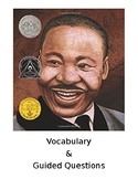Martin's Big Words Guided Questions & Vocabulary Cards