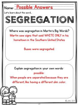 Martin's Big Words - Mentor Sentence Lesson & Mentor Text Activities: Grades 1-2