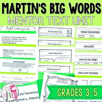 Martin's Big Words - Mentor Text and Mentor Sentence Lessons for grades 3-5