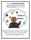 Martin's Big Words  Personal Response MLK Jr