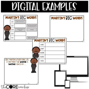 Martin Luther King Jr. Interactive Read-Aloud Activities: Martin's Big Words