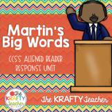 Martin's Big Words Reader Response CCSS Aligned  January Black History Sub Plans