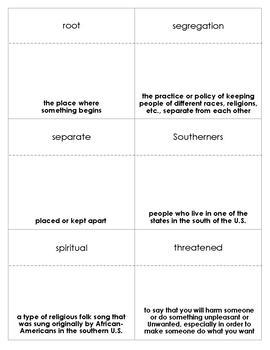 Martin's Big Words Vocabulary Bingo