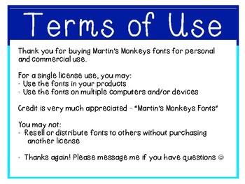 Martin's Monkeys FONTS #1