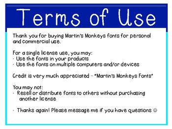 Martin's Monkeys FONTS #2