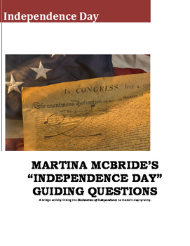 "Martina McBride's ""Independence Day"" Guiding Questions"