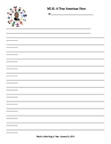 Marting Luther King Jr. Blank Writing Sheet