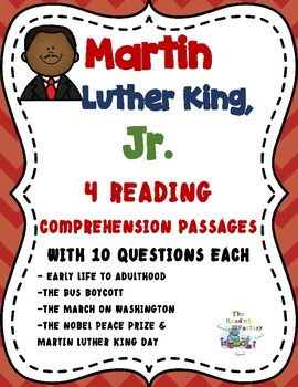Martin Luther King Black History Month Activities- Reading Comprehension