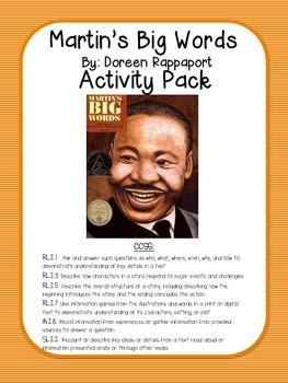Martin's Big Words Activity Pack (by: Doreen Rappaport)