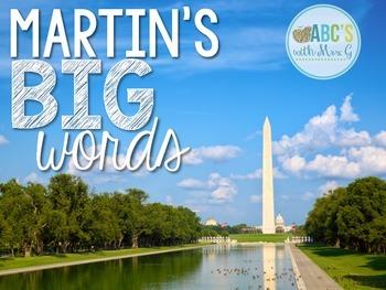 Martin's Big Words Close Reading Activities