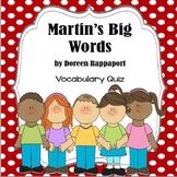 Martin's Big Words Comprehension Questions