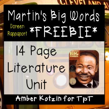 FREEBIE - Martin's Big Words Literature Guide (Common Core