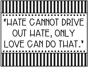 Martin's Big Words {Martin Luther King Jr. Poster Quotes}