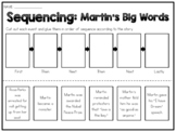 Martin's Big Words - Sequencing Worksheet