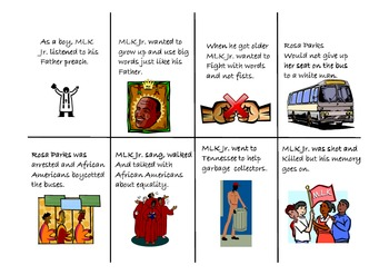 Martin's Big Words Sequencing/Retelling and Character Traits