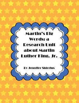 Martins Big Words: a Research Unit for Martin Luther King, Jr.