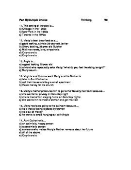 """""""Marty"""" by Paddy Chayefsky- Test"""