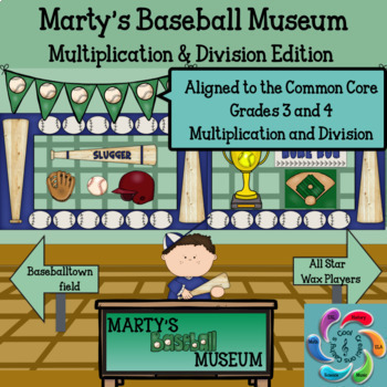 Marty's Baseball Museum-Bundle Interactive Mult and Div games