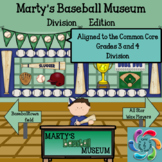 Interactive Division Game-Marty's Baseball Museum Google Slides/Adobe PDF