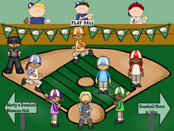Marty's Baseball Museum- Interactive Multiplication Game