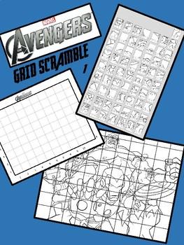 Marvel Avengers Image Scramble #1 - Busy / Sub Work