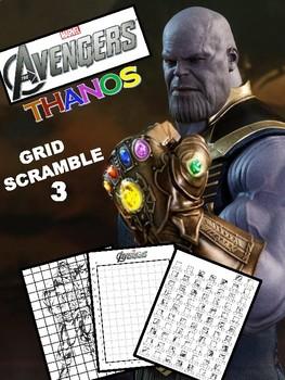 Marvel Avengers Image Scramble #3 THANOS - Busy / Sub Work