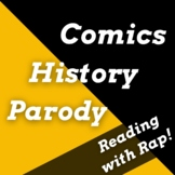 Marvel Avengers, Superhero Reading Activities Using Parody & Analysis Rap Songs