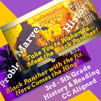 Marvel Comics Black Panther Superhero Reading Passages with Songs Bundle