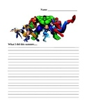 Marvel Superhero writing assignment What I did this summer